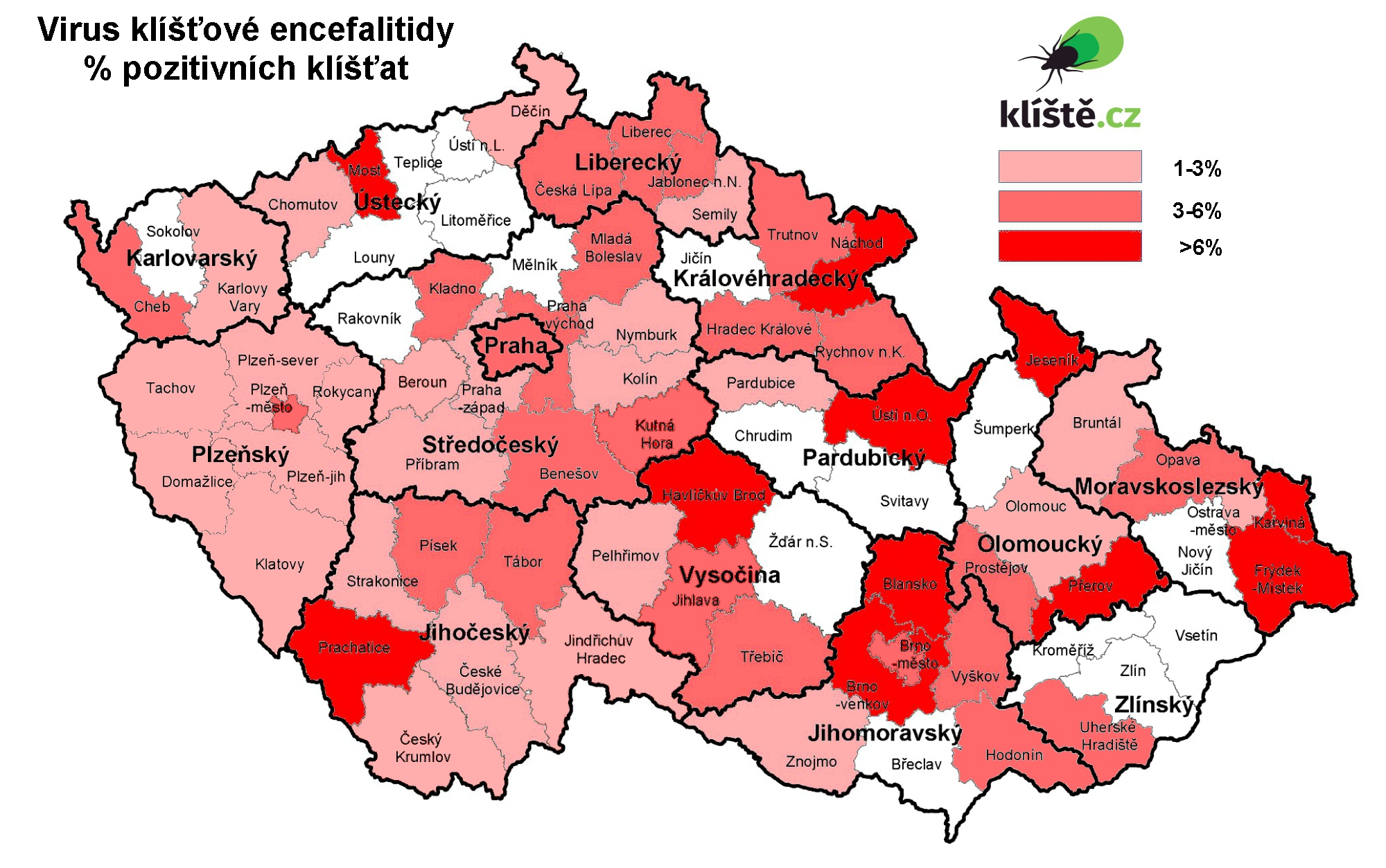 mapa výskytu